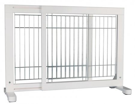 Regulowana bramka do wstawienia w futrynę - biała