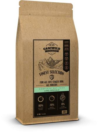 Caniwild Finest Selection Land Specials 80/20/0 All life stages 6kg
