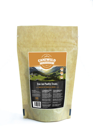 Caniwild Free run Poultry Grain-Free all life stages Treats 100g