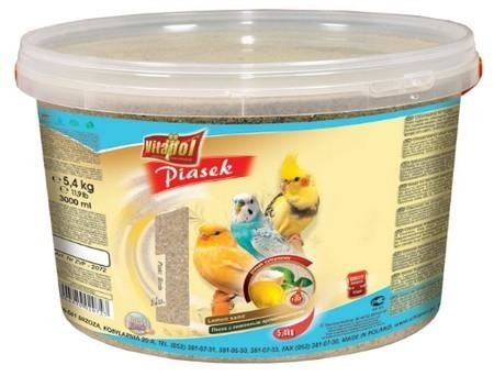 Cytrynowy piasek dla ptaków - wiadro 3 l