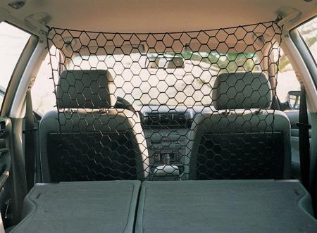 Czarna siatka odgradzająca do wnętrza samochodu - 1x1 m