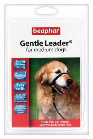 Kantar, obroża uzdowa dla psów średnich ras Gentle Leader czarna