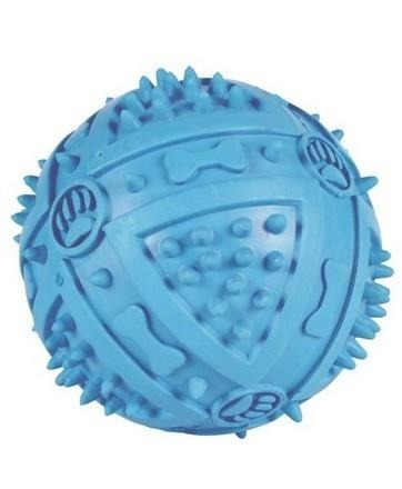 Kauczukowa piłka wyposażona w wypustki - 6 cm