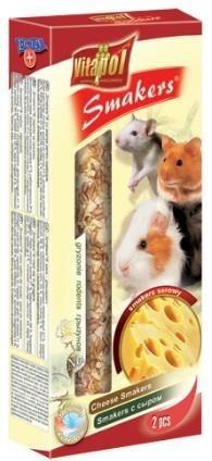 Kolby o smaku serowym dla królików i gryzoni - 2 sztuki