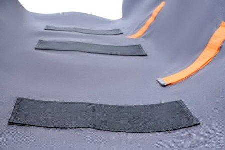 Granatowy pokrowiec antypoślizgowy na tylną kanapę, wyposażony w zamek - rozmiar S