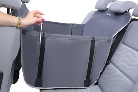 Mata do auta dla psa na połowę tylnego siedzenia z bokami Anti Slip Mini czarna