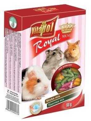 Paluszki dla gryzoni o różnych smakach - 60 g