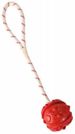 Piłka do wody 7cm z wypustkami na sznurku 35cm Aport pływający