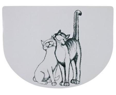 Podkładka pod miskę z grafiką kocią