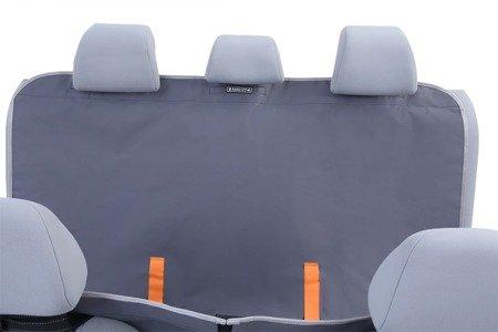 Pokrowiec samochodowy dla psa na tylne siedzenia auta Anti Slip z bokami i zamkiem M czarna