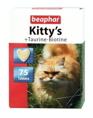 Przysmak witaminowy dla kota z tauryną i biotyną Kitty's Taurine-Biotine 75 tabletek