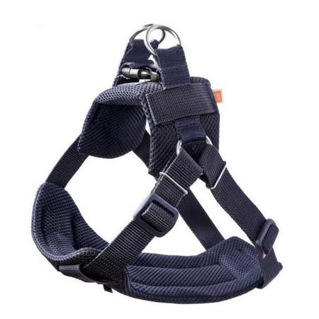 Szelki samochodowe + pas bezpieczeństwa dla psa Air 3D rozmiar XL Czarne