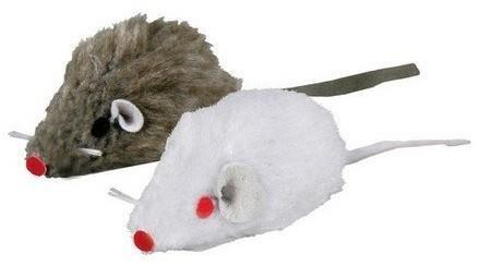 Trixie Myszka szara/biała 5cm