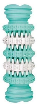 Gumowa zabawka w kształcie wałka z wypustkami - dentystyczna - 11 cm