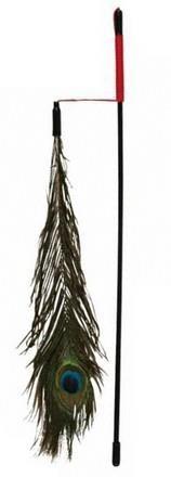 Trixie Wędka dla kota z pawim piórem 47cm