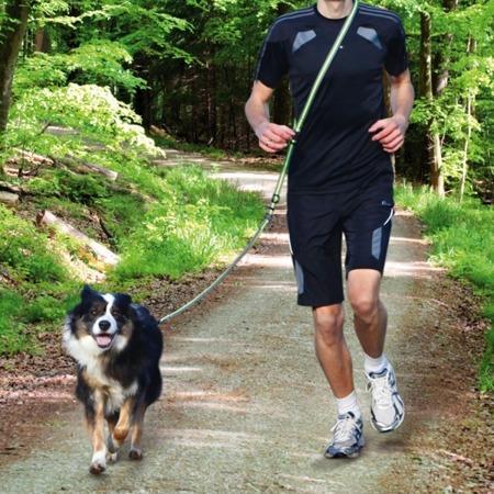 Uniwersalna smycz do biegania z psem do noszenia na trzy sposoby