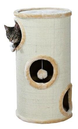 Wysoki drapak dla kota z budką-tunelem