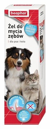 Żel do mycia zębów o smaku mięsa dla psa i kota Beaphar 100g