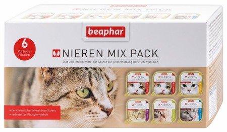 Zestaw tacek dla kotów z niewydolnością nerek Nieren Diet Mixed Pack 6x100g